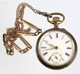 Art Nouveau Men's Pocket Watch Silver 800