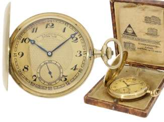 Pocket watch: gold savonnette A. Lange & Sohne German watch manufacture Glashütte