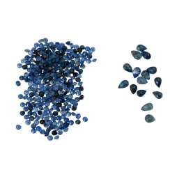 Mixed lot of small sapphires