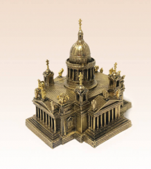 Miniature bronze figure of a temple Cathedral