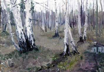 "Azgur (Gorelova) G. G. ""White birches""."
