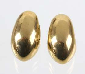 Pair Of Gold Earrings - Yellow Gold 333