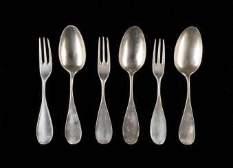 SIX WESTPHALIAN CUTLERY PARTS