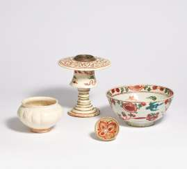 Rare censer, small bowl and melon-shaped bowl
