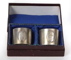 silver napkin ring Pair