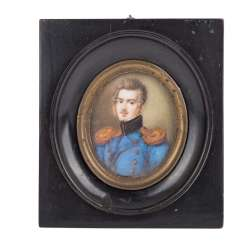 Miniature portrait of a high-ranking officer, 19. Century.