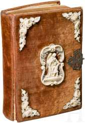 Prayer book with ivory carving, German, around 1860