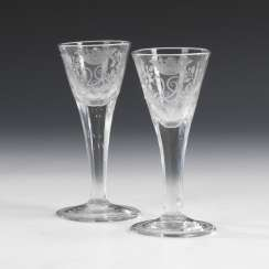 Pair of Baroque chalice glasses