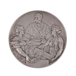 Austria - Franz Joseph I, silver medal 1898, on as 50-year-old