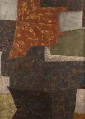 SERGE POLIAKOFF (UMKREIS) 1900 Moskau - 1969 Paris. KOMPOSITION IN VIOLETT, ORANGE UND GRÜN