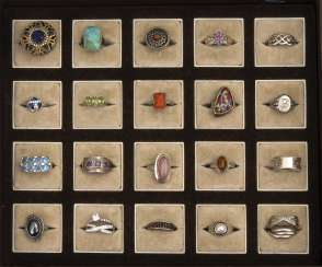 Mixed Lot Of Silver Rings