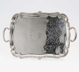 Large tray with engraved decoration