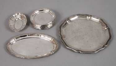 Silver Items, coasters and bowls