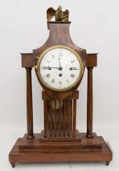 GRANDFATHER CLOCK WITH FIGURE