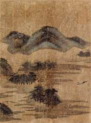 Vier anonyme Albumblätter mit Landschaftsszenen