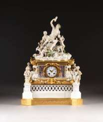 HIGHLY SIGNIFICANT WATCH WITH BACCHUS AND FLORA