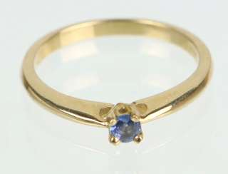 Ring with sapphire yellow gold 375