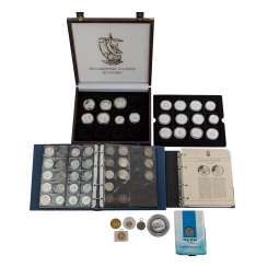 Collection - Maritime history with silver coins and logbook,
