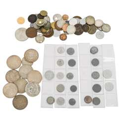 Treasure trove with among other things some US silver dollars,