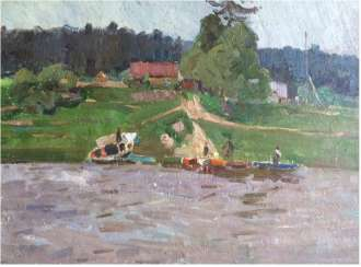 "Crealev P. S. - ""Evening on the Western Dvina river"""