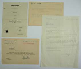 Documents of the estate of a fallen Sergeant major of the 3./ Infantry-Regiment 335 - special badges for the destruction of tanks and armoured cars.