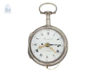 Pocket watch: important, highly complicated Kutschenuhr with Grande Sonnerie, Petit Sonnerie, repeater and alarm clock, Berthoud a Paris, 1800
