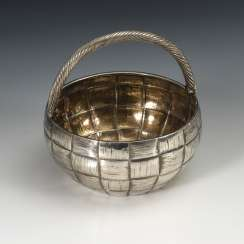 Russian Handle Basket, Silver