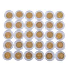 Magnificent 30-piece coin collection Dt. Empire in Gold