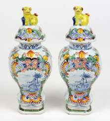 Faience vase pair to 1780/1800