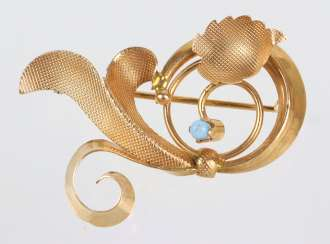 Design Brooch - Yellow Gold 750