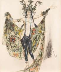 FRENCH-RUSSIAN ARTIST at the beginning of 20. Century-costume design for 'Ballet russe'