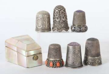 Collection Of Thimbles Germany/India/Italy/Norway