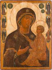 A MONUMENTAL ICON WITH THE MOTHER OF GOD OF TIKHVIN (TICHWINSKAJA)