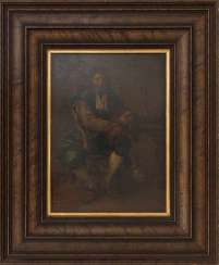 UNKNOWN ARTIST: SEATED MAN OF THE BAROQUE
