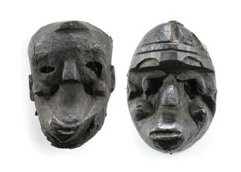 Two Masks, Wood, Probably West