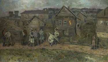 TUTUNOV, ANDREI (B. 1928) Village Dance , signed and dated 1957.