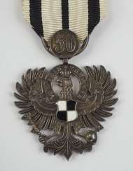 Prussia : Royal house order of Hohenzollern, Adler is the owner of, with jubilee number 50.