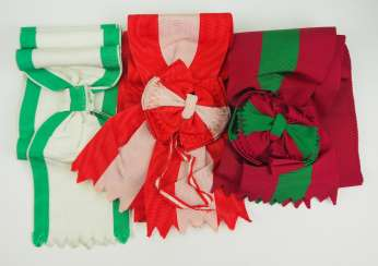International: Lot of 3 sashes.