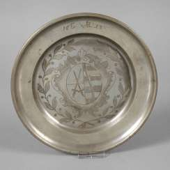Tin plate with Saxony coat of arms