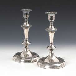Pair of large silver plated candelabra.
