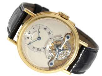 Watch: exceptional and very high quality 18K yellow Gold gentleman's wristwatch