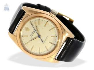Watch: Rolex watch-rare rose gold, Rolex Oyster Perpetual, Bubble Back Ref. 3131, CA. 1945