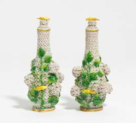 Couple of small snow ball vases