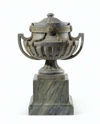 A LOUIS XVI STYLE ST ANNE MARBLE URN AND COVER