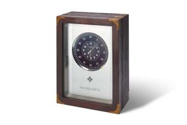 "PATEK PHILIPPE, ELECTRONIC MARINE CHRONOMETER WITH SWEEP CENTRE SECONDS, ALUMINUM, IN WOODEN BOX, ""NAVIQUARTZ"", REF. 1200E"