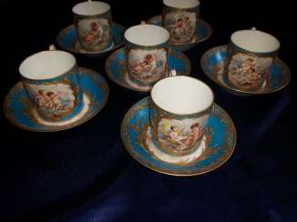 Porcelain coffee set, France of the XIX century.