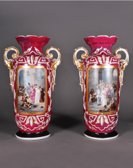 Vases pair of XIX century porcelain