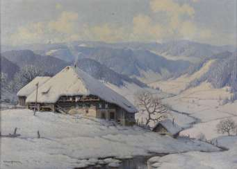 Wintry homestead in the Black Forest