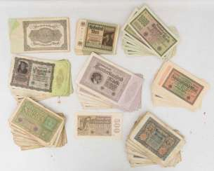 CONV. OLD EMERGENCY AND inflation money, Germany, 1. Half of the 20. Century