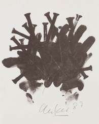 GUENTHER UECKER 1930 Wendorf, Mecklenburg - lives and works in Düsseldorf. UNTITLED (NAILS)